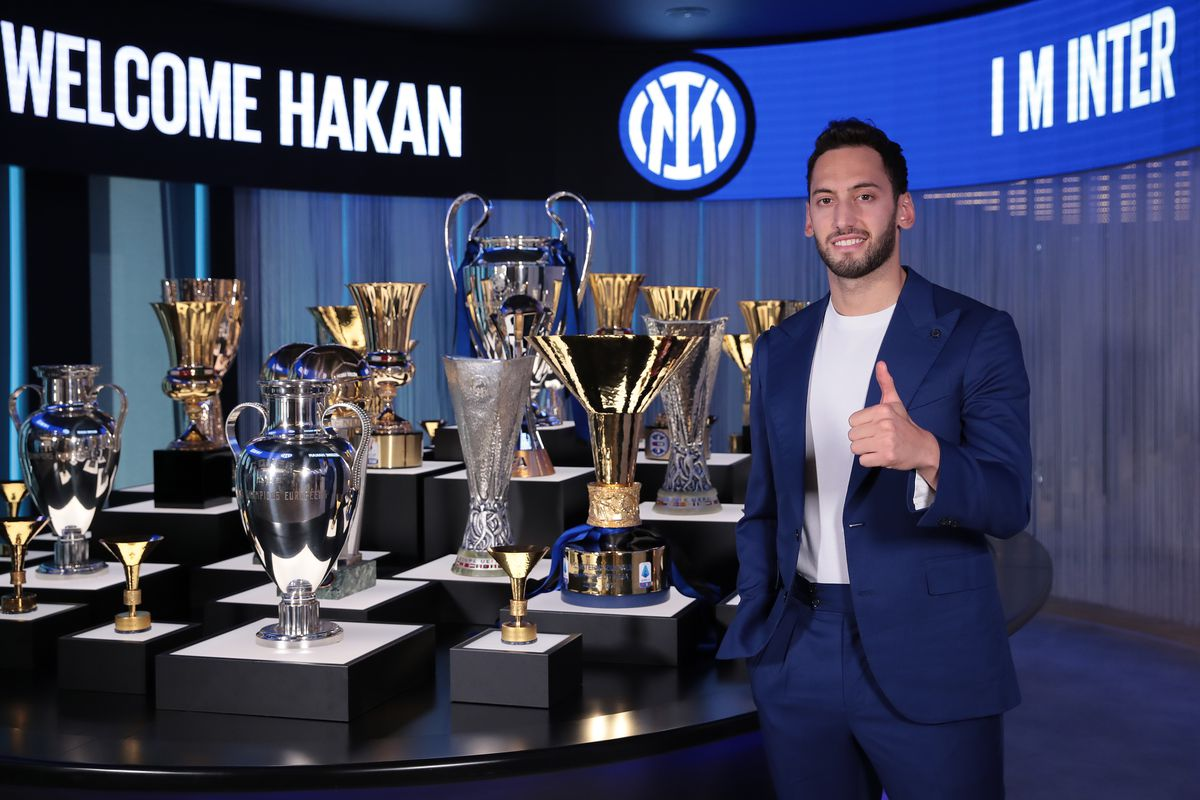 FC Internazionale Unveils New Signing Hakan Calhanoglu
