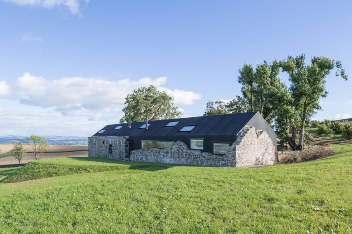 Solar Powered Modern Home Rises Within Stone Ruins Curbed