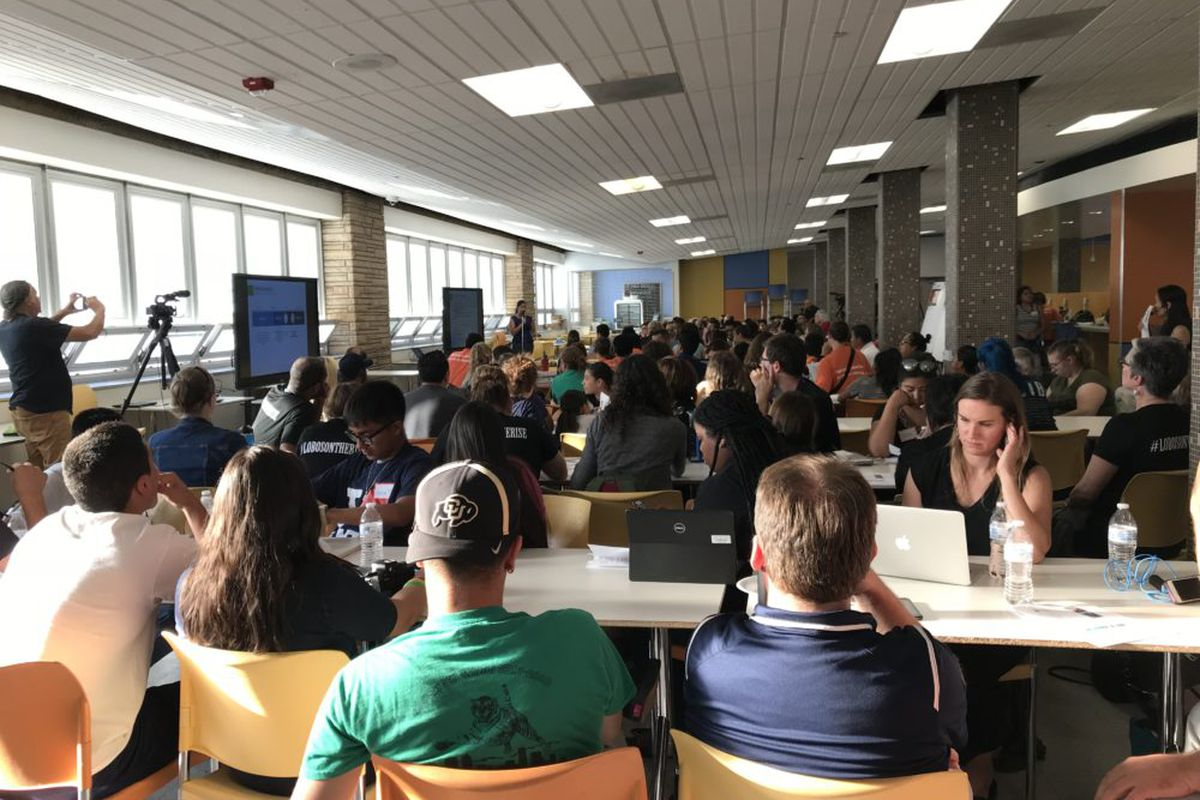 More than 100 people gathered at Abraham Lincoln High School to give feedback on the Denver superintendent search.
