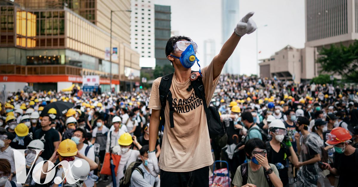 why are they protesting in hong kong today
