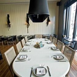 Communal table in the main dining room