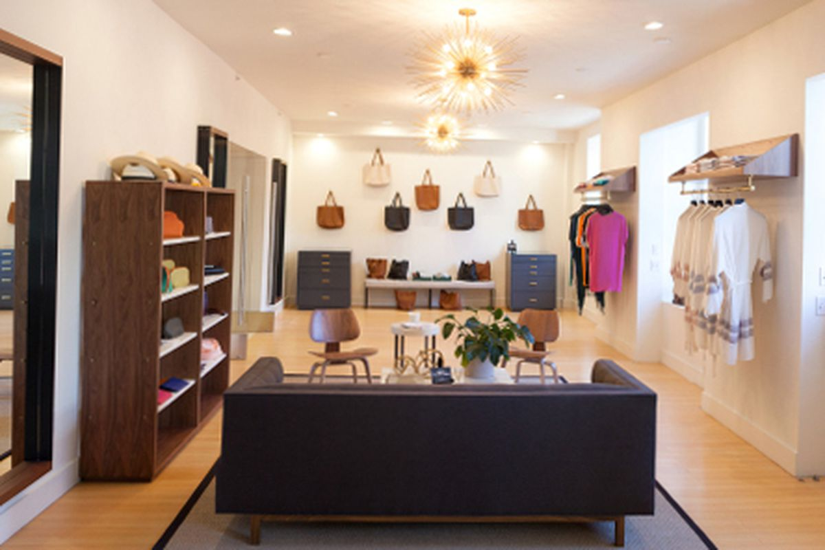 """The Cuyana Showroom, photo by <a href=""""http://www.frontcoverphoto.com/"""">Front Cover Photography</a>"""
