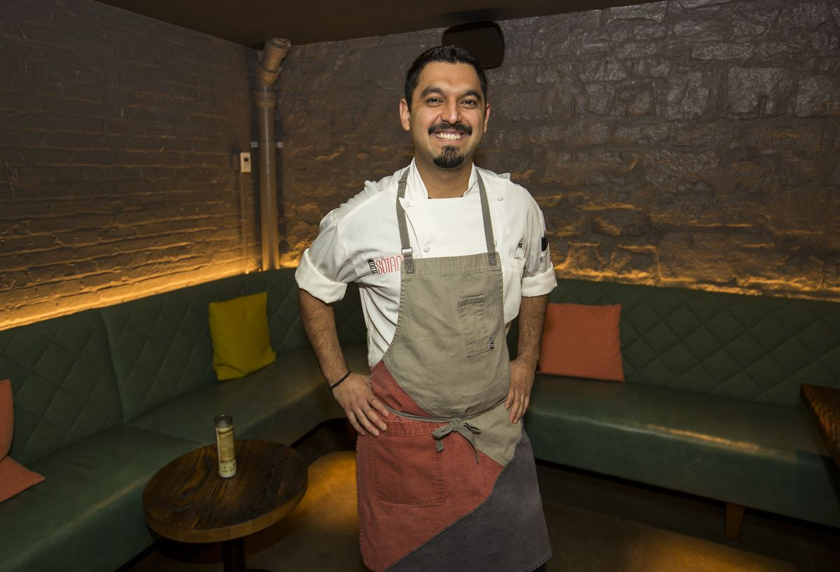A smiling chef