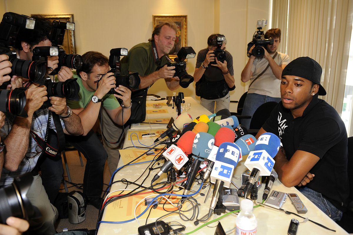Robinho Gives Press Conference In Madrid