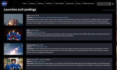 NASA launches