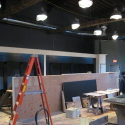 The front bar area.