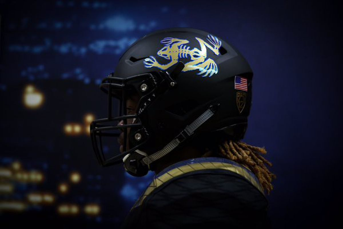 The Bruins will wear the Navy Seals bone frog logo on the left side of their helmets tonight.