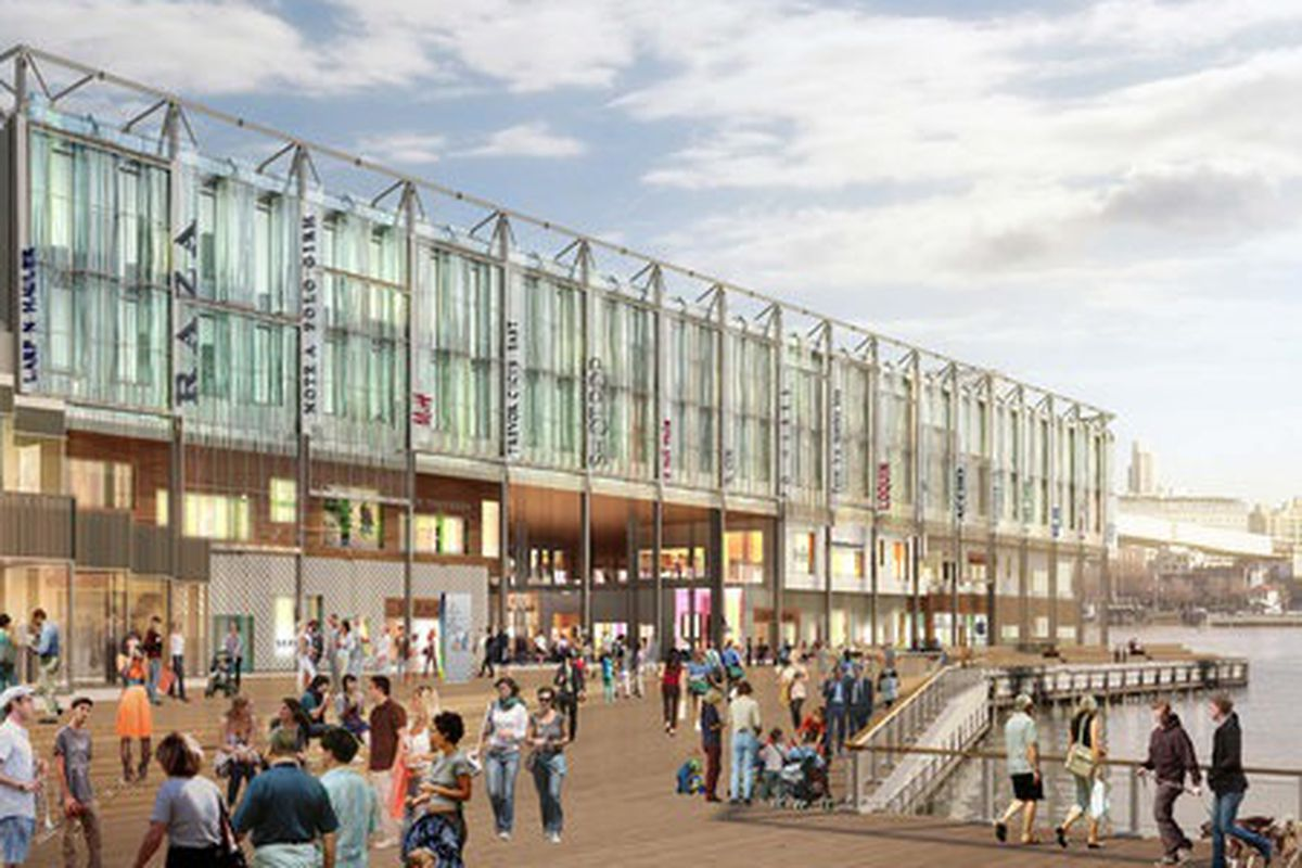A rendering of the upcoming Pier 17 makeover