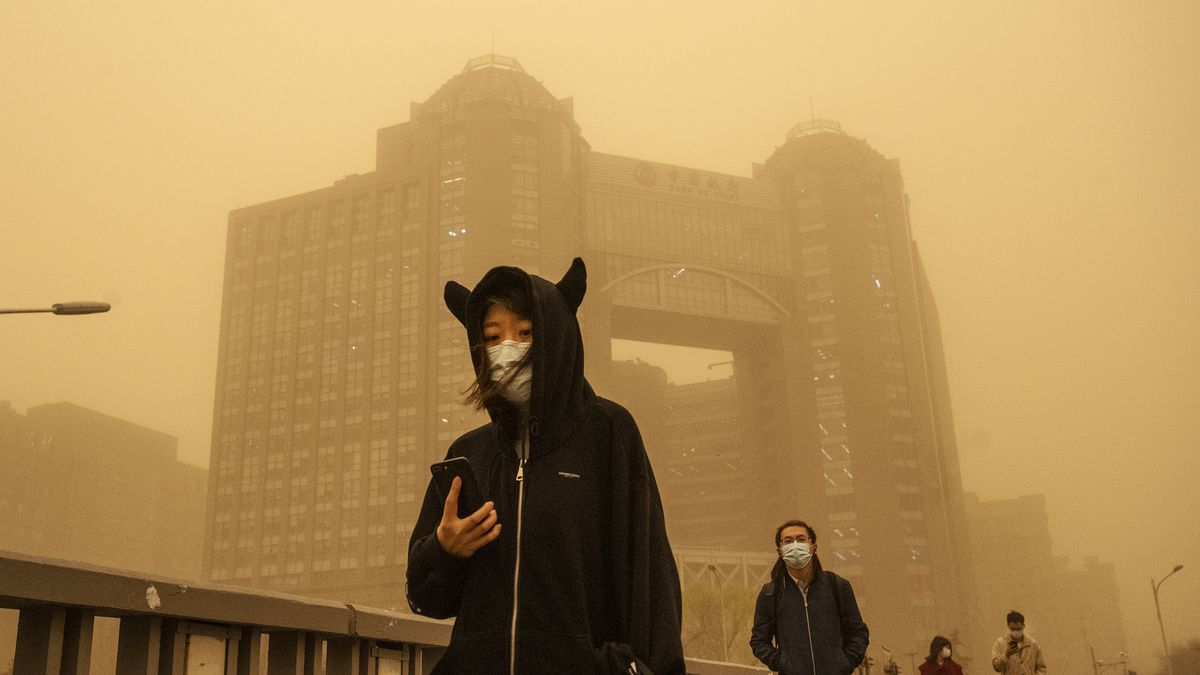 A massive sandstorm hit Beijing, China, on March 25.