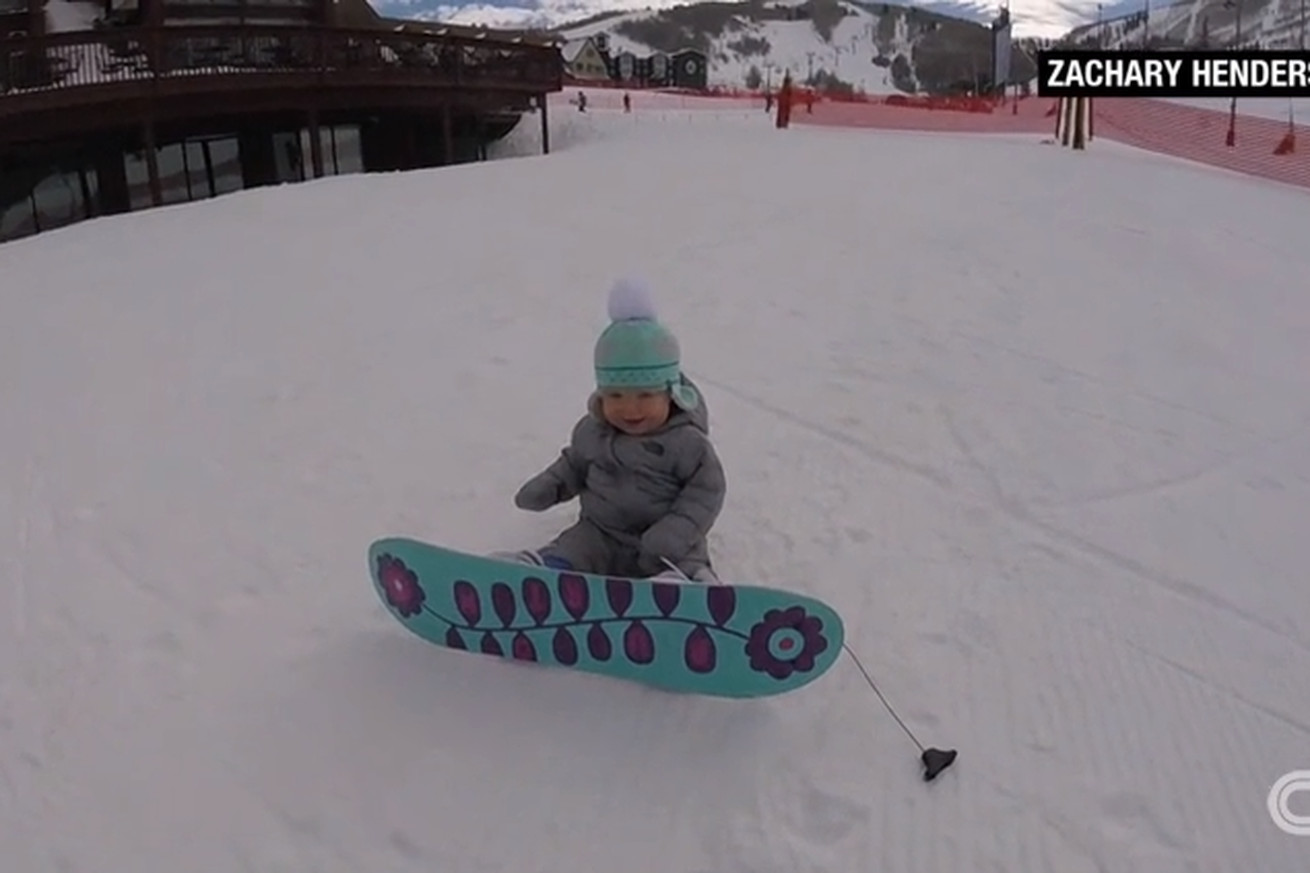 this 1 year old can snowboard better than you sbnation com