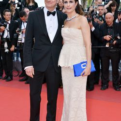 Colin and Livia Firth at the premiere of 'Loving.'