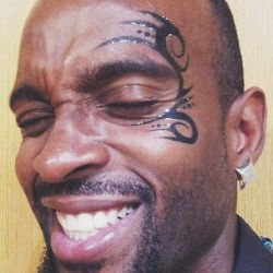 Tonight's gig was a blast. Here's a picture of my top design request for males: the Mike Tyson.