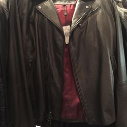 Star USA leather jacket, size M, $199 (from $898)