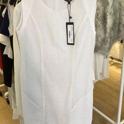 Eyelet cotton ramie dress, $240, originally $795