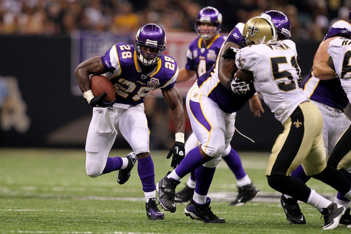 NEW ORLEANS - SEPTEMBER 09:  Adrian Peterson is freaking good.