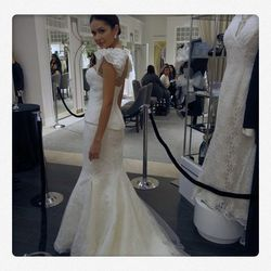 """Traditional white gowns were a winner with the crowd, as this dress also got many """"oohs"""" and """"aahs."""""""
