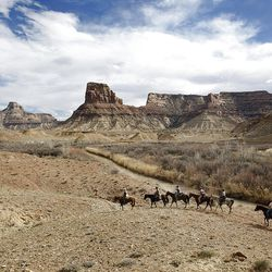 Riding out of the Little Grand Canyon of the San Rafael Swell  Saturday, April 2, 2011, in the San Rafael Swell in Central Utah.