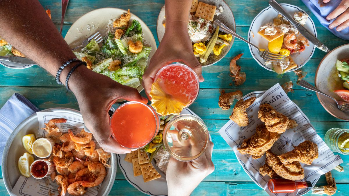 A selection of items offered on Jimmy's Dockside to-go at Saint James menu