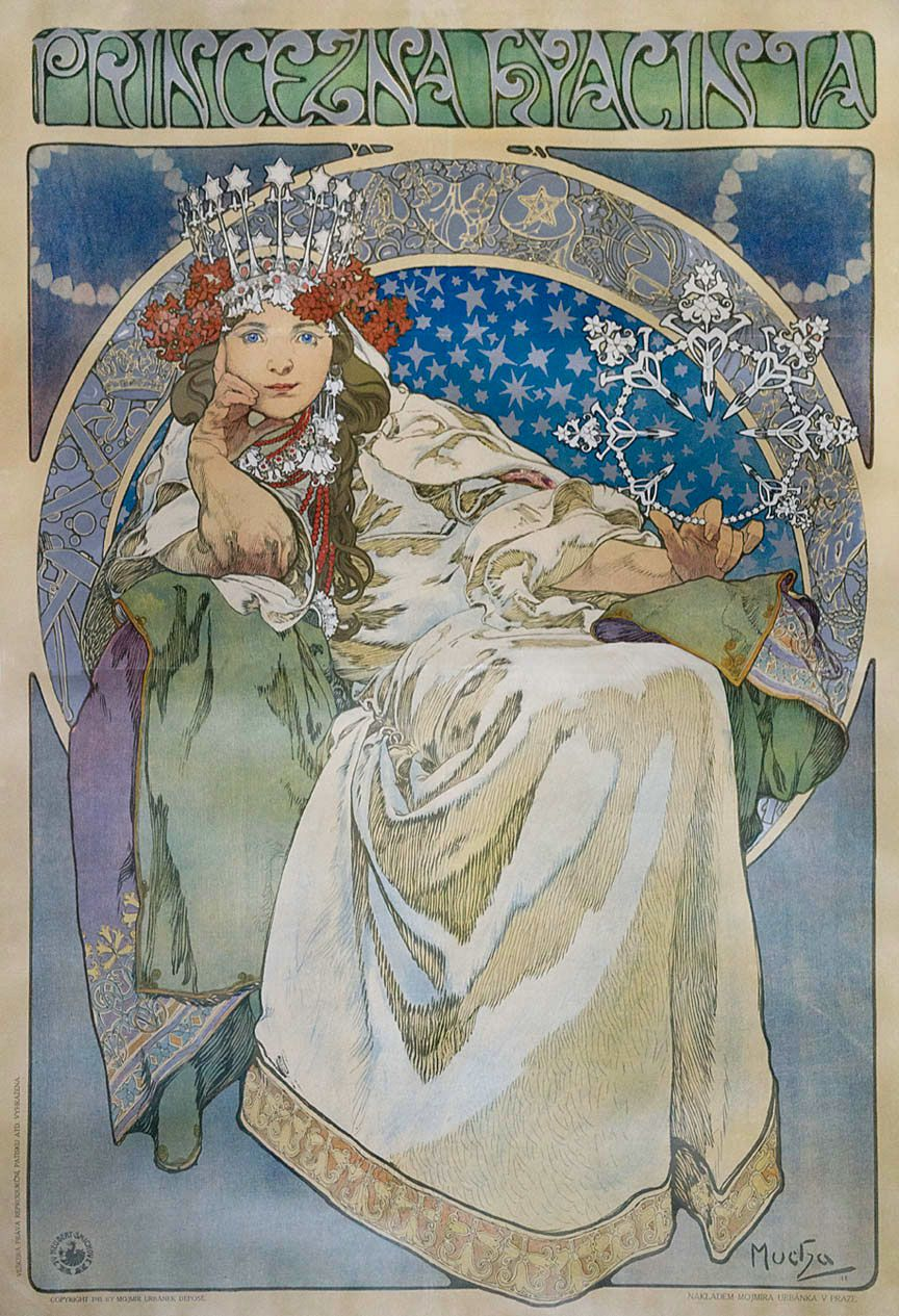 "Alphonse Mucha's ""Princess Hyacinth."" (Photo: Courtesy of the Richard H. Driehaus Museum)"
