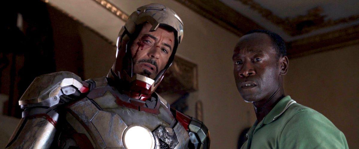 Iron Man and War Machine in Iron Man 3