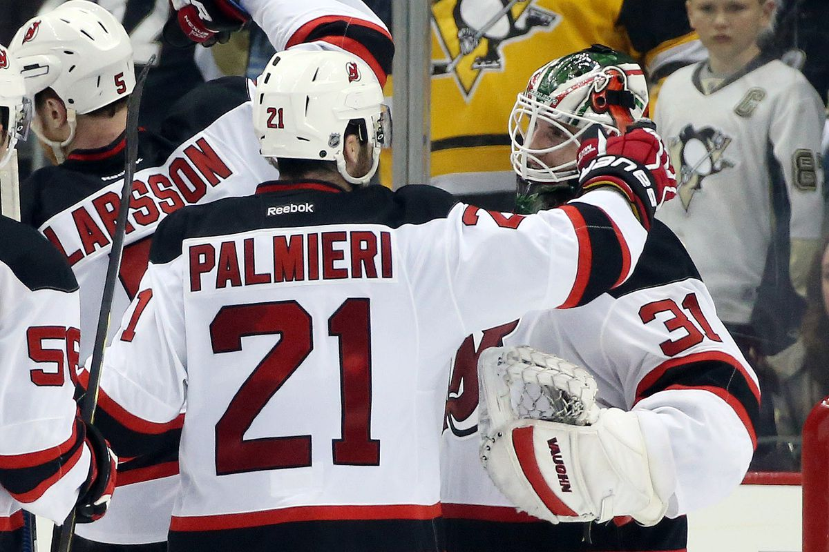Palmieri got two goals, but Wedgewood deserved all the love from his teammates for the shutout.
