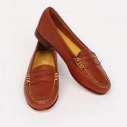"""<a href=""""http://shoppenelopes.com/collections/w-sale/products/tan-loafer"""">Bass Viviana Loafer in Tan</a>, was $85 (was $108)"""