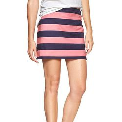 """<strong>Gap</strong> rugby-stripe mini skirt, <a href=""""http://www.gap.com/browse/product.do?cid=5727&vid=1&pid=941339032"""">$34.96</a> (was $49.95)"""