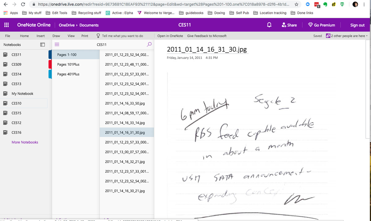Microsoft OneNote migrated from Evernote