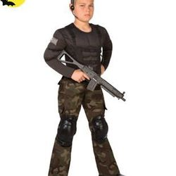 """<a href=""""http://www.spirithalloween.com/product/pn-spec-forces-commando-8-10/"""">Special Forces Commando Child Costume</a>. The assault rifle is extra."""