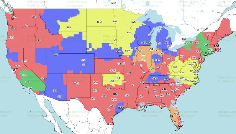 NFL Week 10 Broadcast Map - Turf Show Times