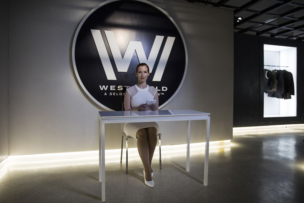 One of the welcoming Delos hosts at Westworld: The Experience