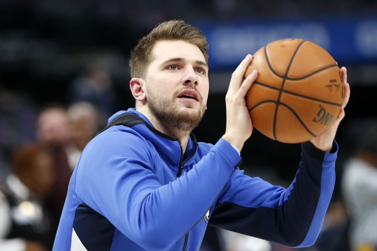 Dallas Mavericks guard Luka Doncic warms up before the game against the Phoenix Suns at American Airlines Center. Mandatory Credit: Kevin Jairaj