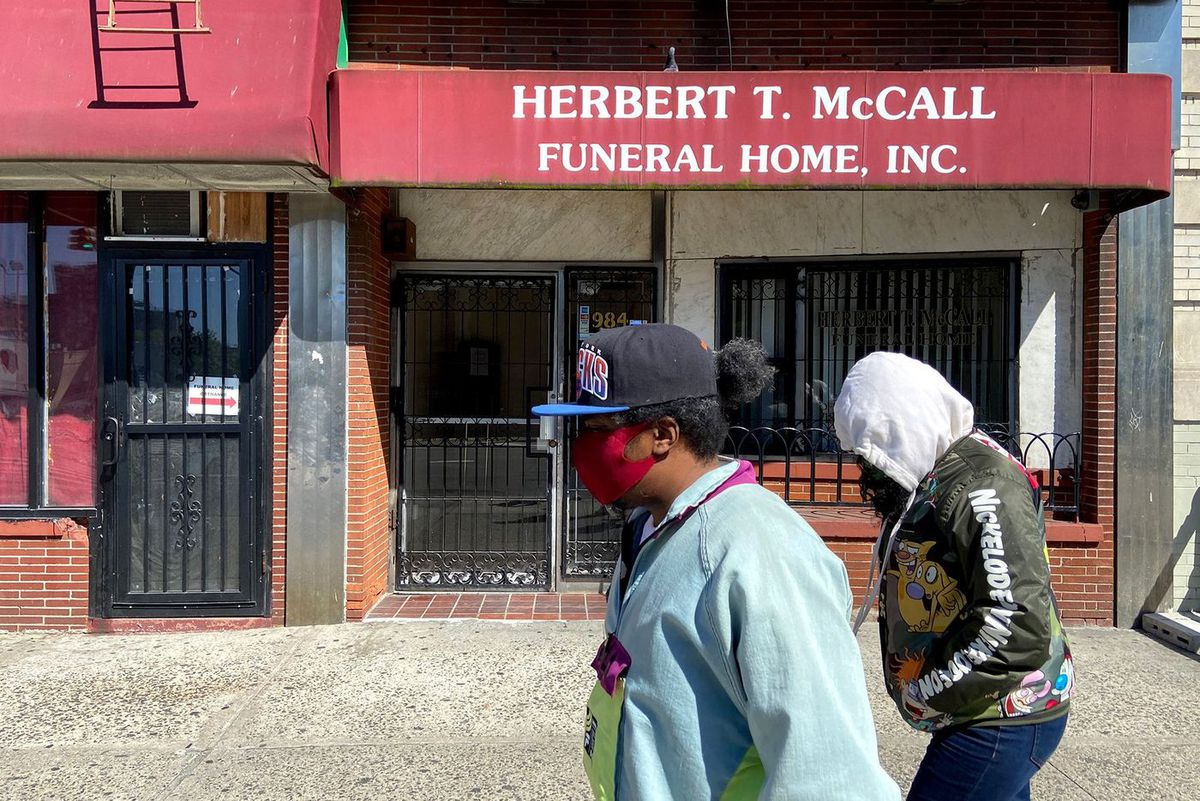 The Herbert T. McCall Funeral Home in the Bronx has been inundated with cases during the coronavirus pandemic.