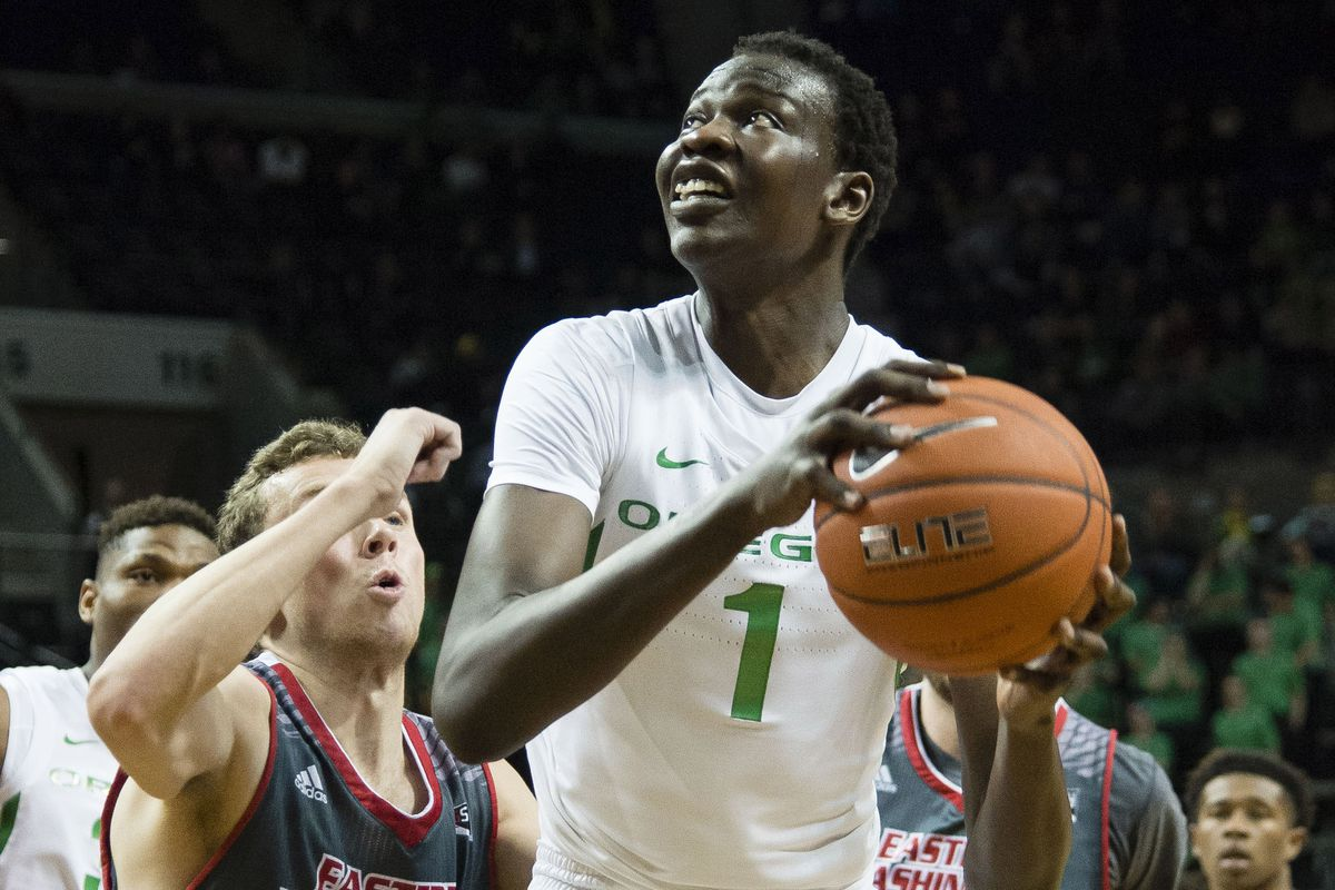 finest selection ca752 b1847 NETS WORKOUT: An early look at Bol Bol, the Oregon seven ...