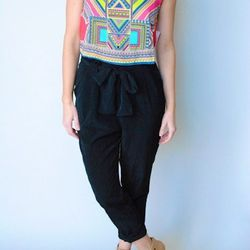 """<a href=""""http://www.shopvonz.com/collections/tops-1/products/printed-crop-top"""">Jealous Tomato Printed Crop Top</a>, $36"""