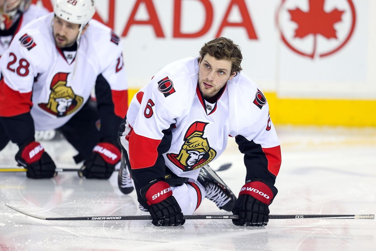Bobby Ryan feels comfortable without a helmet because he has his enforcer behind him.