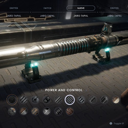 Power and Control lightsaber sleeve