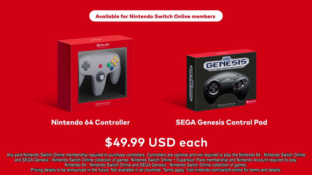 It's 2021 and Nintendo is selling a Sega Genesis controller (and an N64 one too)