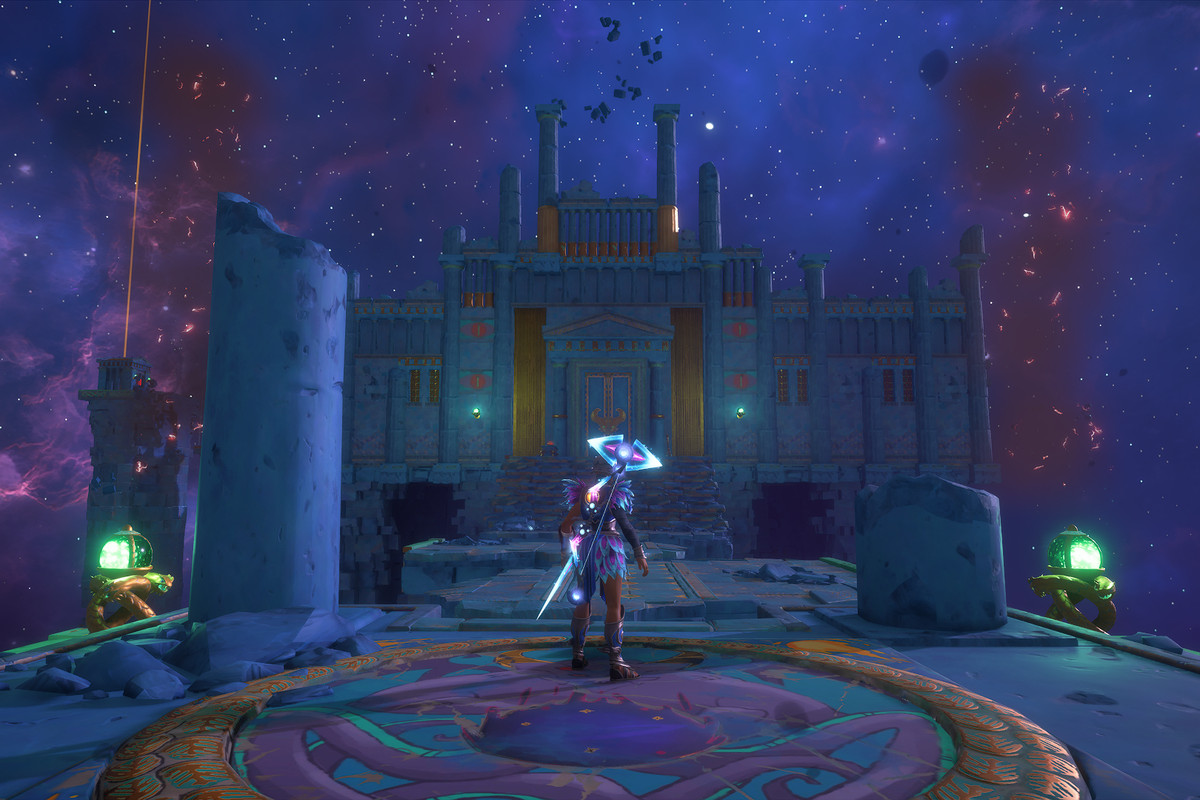 The entrance to the Arena of FinesseVault of Tartaros in Immortals Fenyx Rising