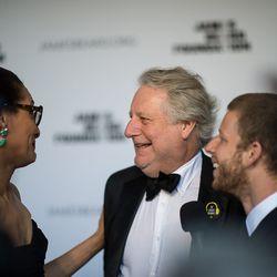 Carla Hall and Jonathan Waxman to Joshua David Stein for Eater's yellow carpet shoot
