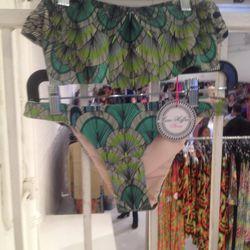 Bikini top, $45; bottoms, $40