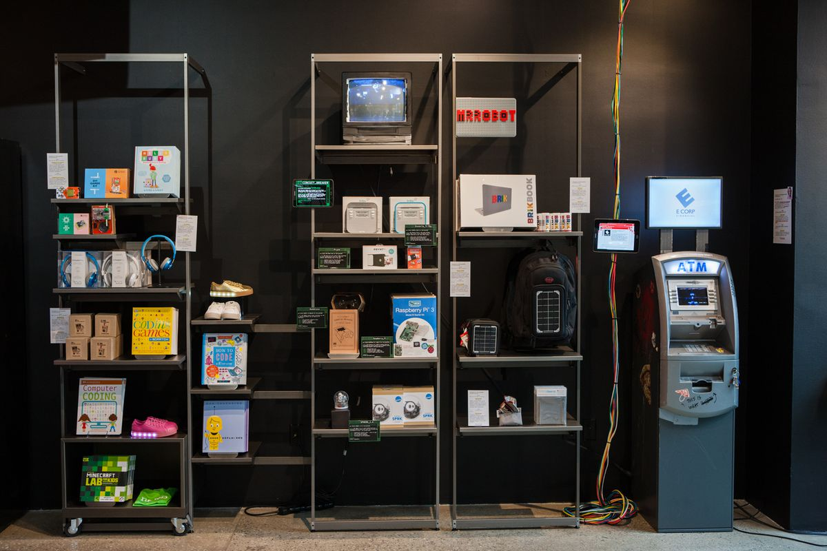 mr robot concept store lets you hack a fake atm for. Black Bedroom Furniture Sets. Home Design Ideas