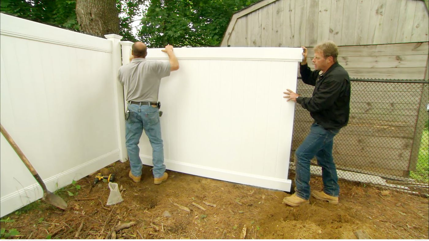 Privacy Fence Installation Video Instructions This Old House