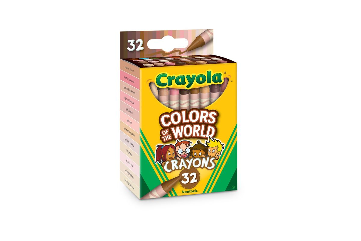 """""""Colors of the World"""" crayons includes 24 new crayons designed to mirror and represent over 40 different skin tones."""
