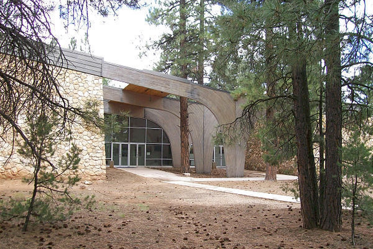 Shrine of the Ages facility at the Grand Canyon was built in the late 1960s. The National Park Service took it over and let the churches rent the space.