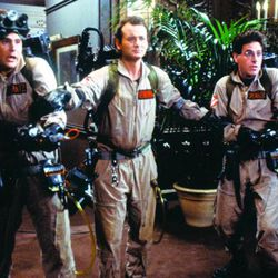 """The original """"Ghostbusters"""" (1984), Dan Aykroyd, left, Bill Murray and Harold Ramis."""" The film may feature in season two of the Netflix hit show """"Stranger Things,"""" which is set in 1984, the same year the original """"Ghostbusters"""" was released."""