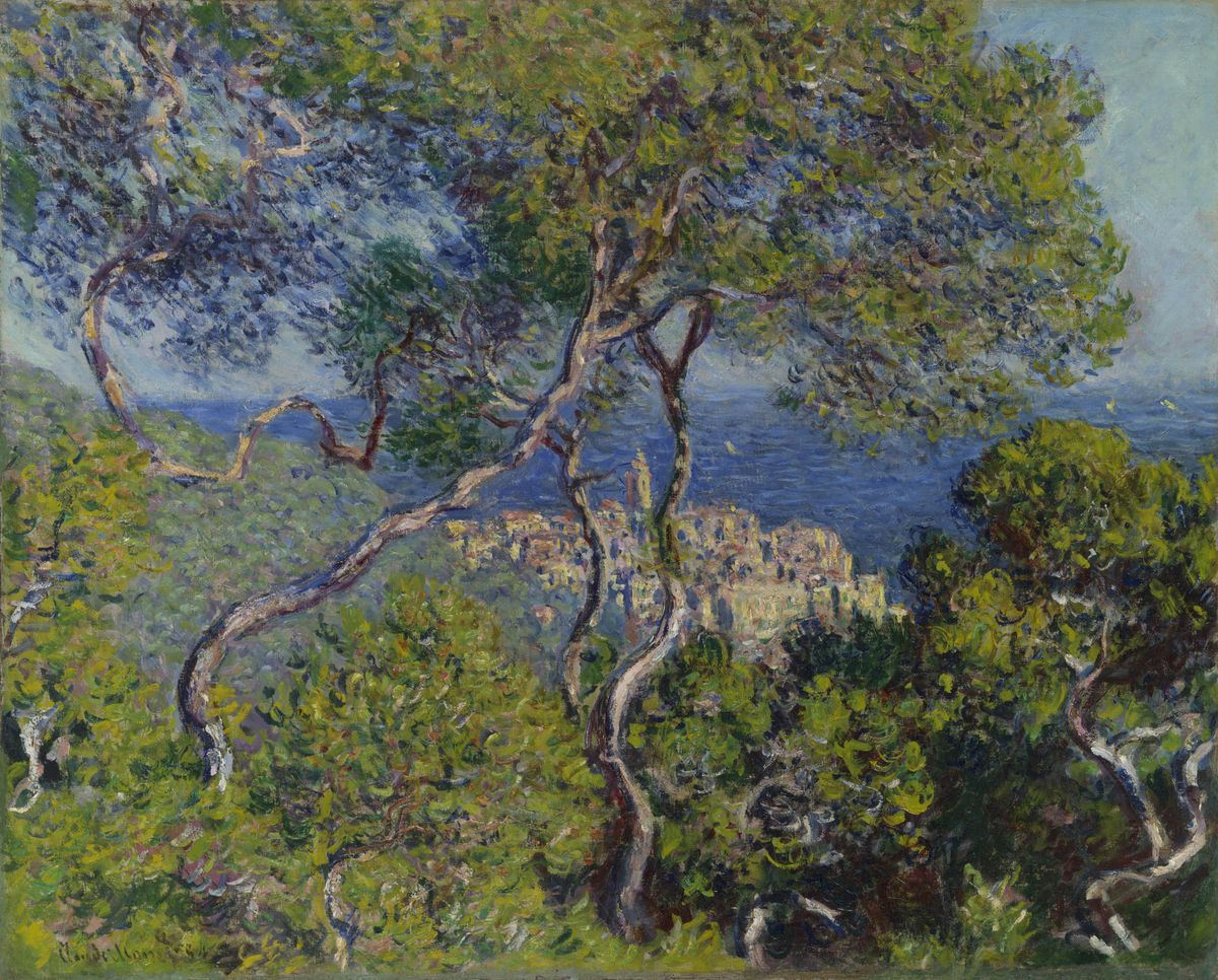 """Claude Monet,""""Bordighera,"""" 1884. The Art Institute of Chicago, Potter Palmer Collection."""