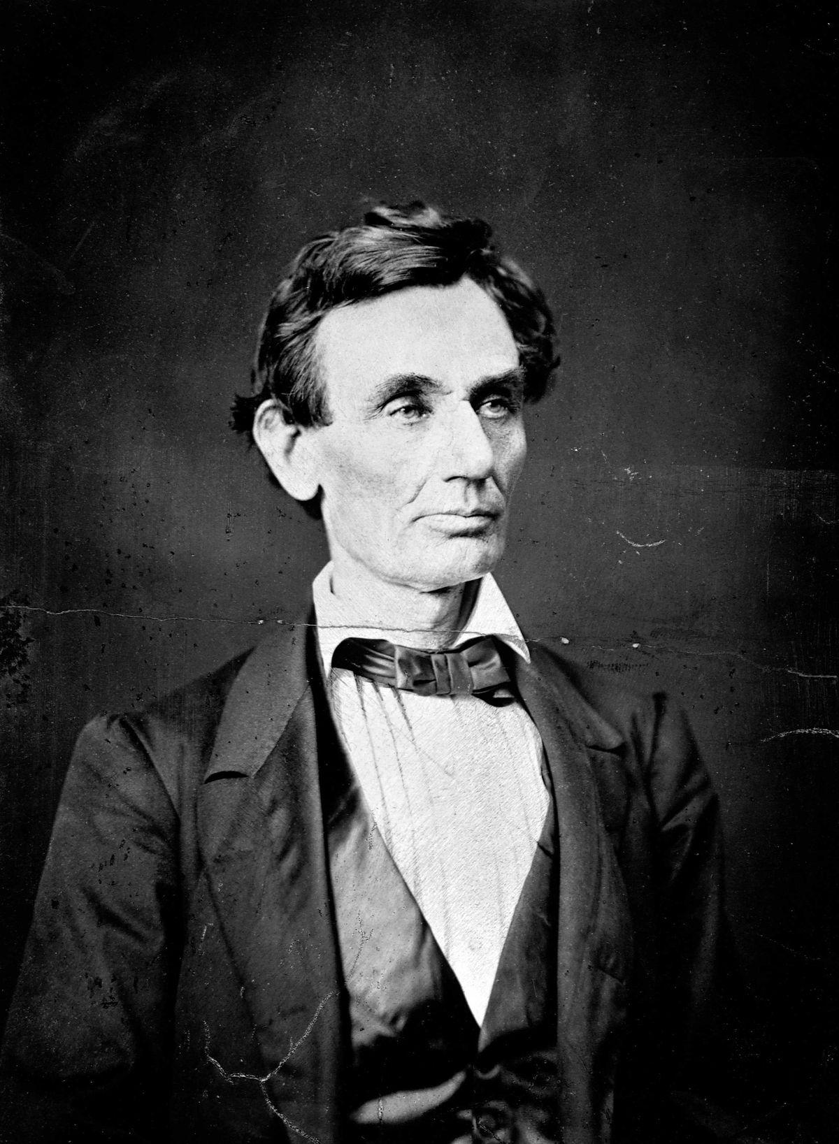 A portrait of Abraham Lincoln circa 1860.