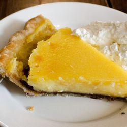 "Lemon black bottom pie from Four + Twenty  Blackbirds by <a href=""http://www.flickr.com/photos/h-bomb/8484248711/in/pool-eater/"">H-Bomb</a>"