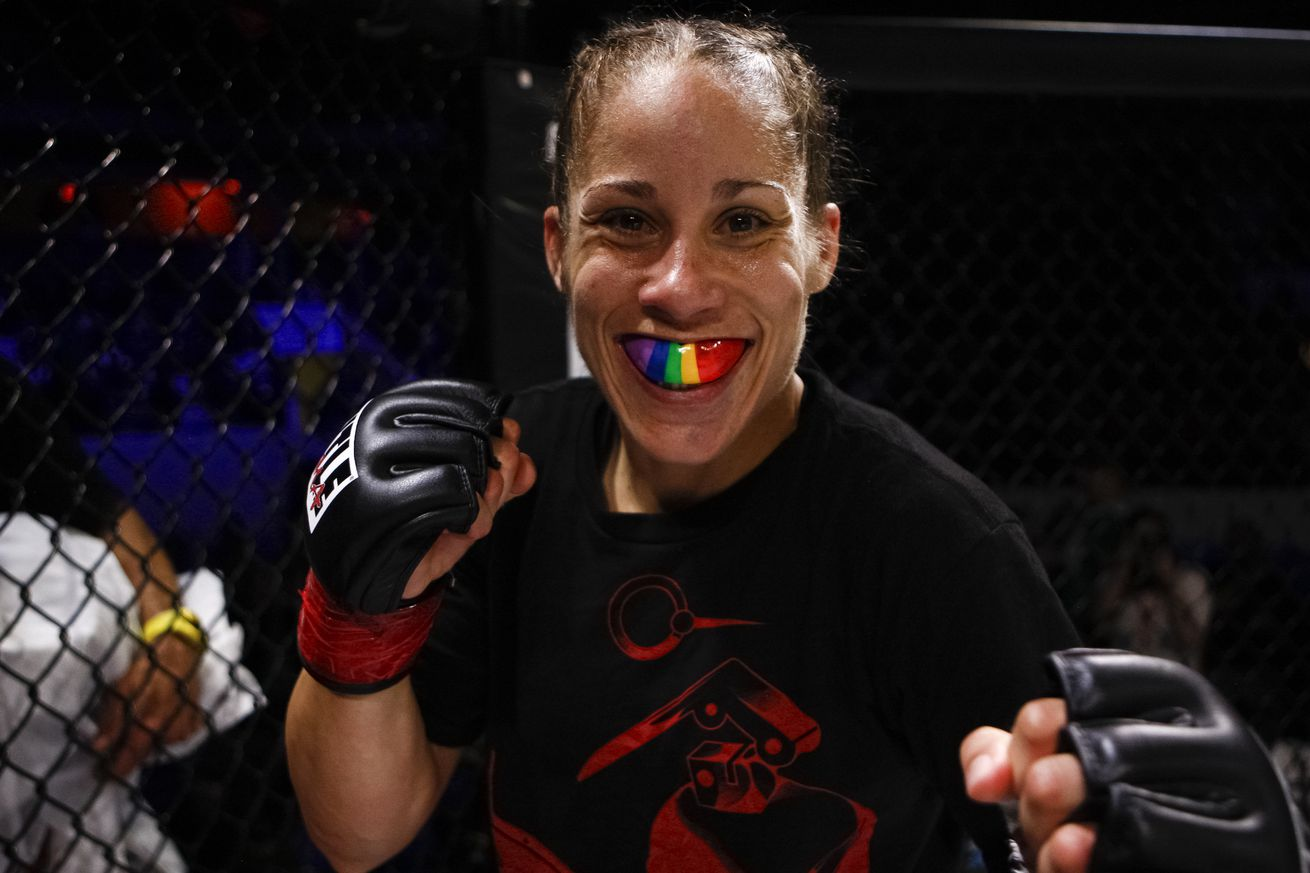 Liz Carmouche (pictured) fights Roxanne Modafferi in a flyweight bout at UFC San Antonio on July 20